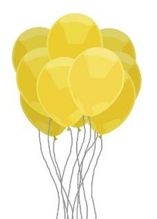 Gele ballonfoto