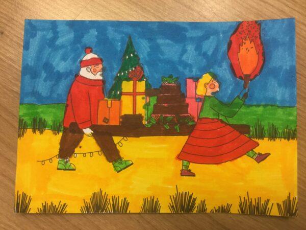Unit 2 en 3: Kerstkaarten ouderfonds